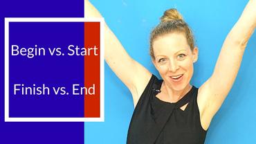 START x BEGIN   FINISH x END  Qual é a diferença entre essas palavras?
